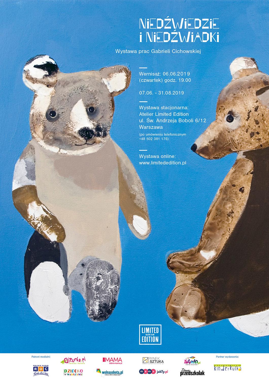 Plakat wystawy Niedźwiedzie i Niedźwiadki